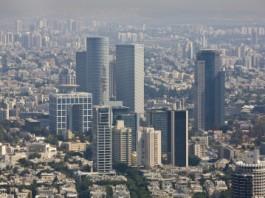 Vue aérienne des tours d'Azriel à Tel Aviv,Caption *** ?? ????