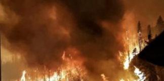 L'incendie au Canada
